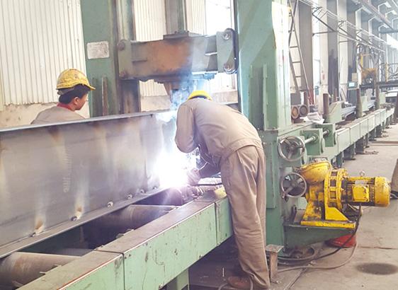 h型钢自动点焊组立机
